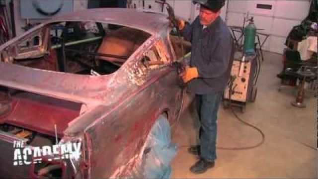 1966 Coupe to fastback conversion - welding on the new roof!